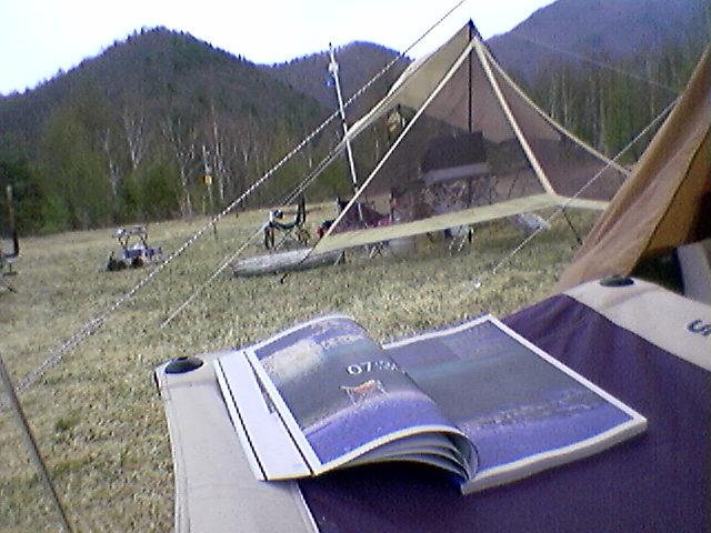 キャンプ3日目・晴れ後曇り